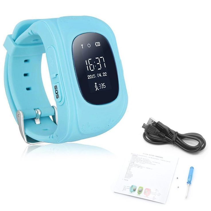 Best-topshop Q50 GPS Tracker Children Smartwatch Anti-lost SOS Gprs Children Bracelet Kids Safety Tracker Childern Wrist Sim Watch Smart Phone for Android/IOS (Blue). SOS emergency alarm: press SOS button for 3 seconds, the watch's screen will display SOS, at the same time it will make phone calls to SOS number turn by turn, send alarm messages to mobile client. Remote monitor, easy to know about the situation of your Kid: monitor numbers can be set on the Apk, when the monitor number…