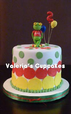 Valeria´s Cupcakes: Sapo Pepe en el cumple de Eitan!