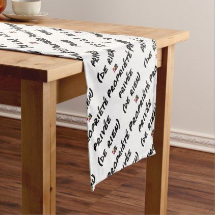 PRIVATE PROPERTY - Word games - François City Short Table Runner - valentines day gifts love couple gift idea my love valentine