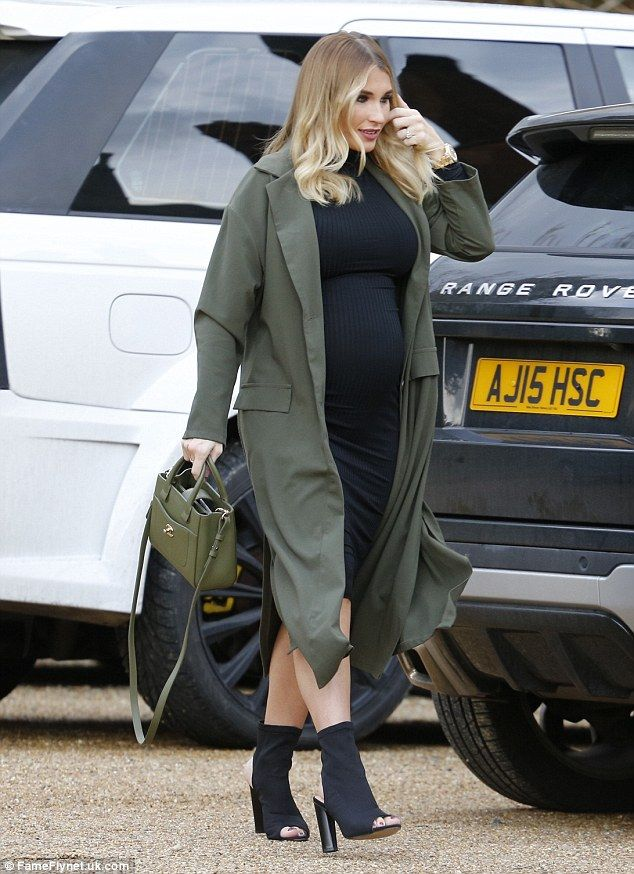 Let's party: Billie Faiers did not let her heavily pregnant status interfere with her soci...