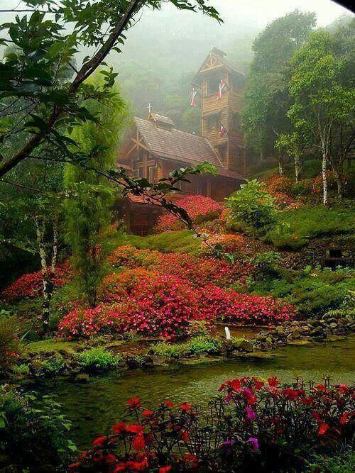 Chapel in the clouds, Costa Rica.