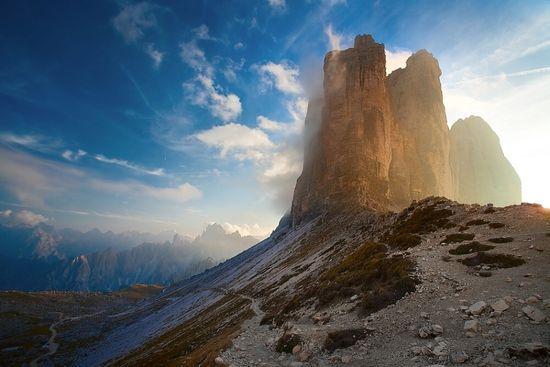 Dolomites in Italy - Tre cime di Lavaredo