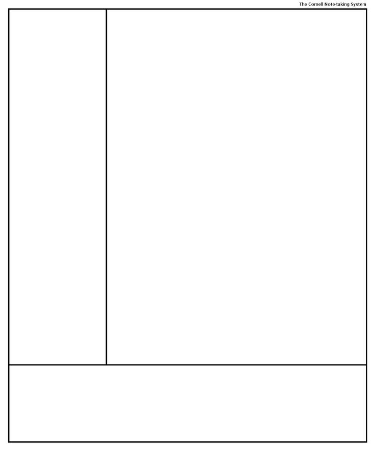 Cornell Note-taking System template template for penultimate - note template