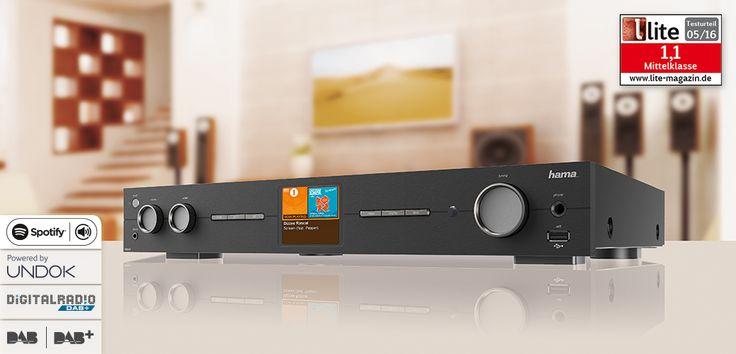"""hama.com   00054833 Hama """"DIT2010"""" Pro Digital Hi-Fi Tuner, FM/DAB/DAB+/Internet Radio"""