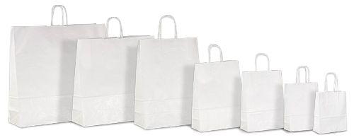 Белые крафт-пакеты с бумажными ручками