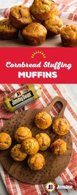 Ditch the serving spoon because it's muffin time. Each Cornbread Stuffing Muffin is like your own serving of stuffing packed with Jimmy Dean Premium Sage Pork Sausage with our unique blend of signature seasonings.