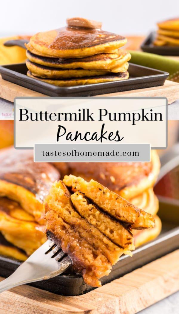 Buttermilk Pumpkin Pancakes Recipe In 2020 Pumpkin Buttermilk Pancakes Pumpkin Pancakes Pancake Recipe Buttermilk