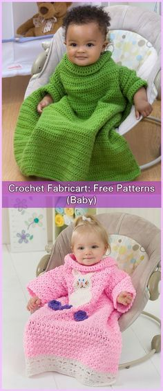 Crochet Snuggle Up Blankets With Sleeves Free Patterns (Baby to Adults)