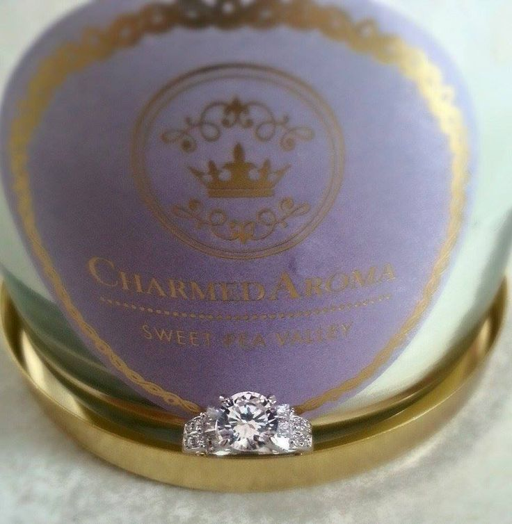 Gorgeous ring uncovered from Charmed Aroma candle. You could be the next winner! Seek your ring surprise today!