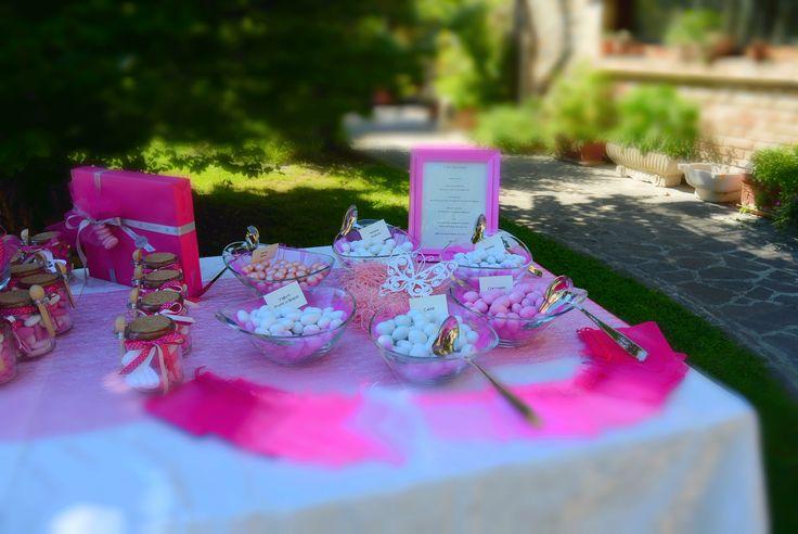 Confettata- farfalle rosa