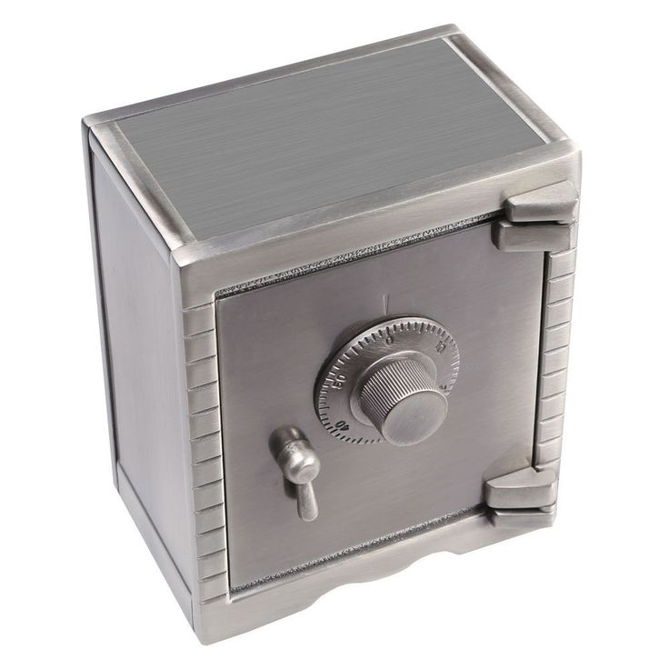 Miniaure Safe Vault Piggy Bank - Working Combination Lock - Pewter Metal #CREATIVEGIFTSINTERNATIONAL
