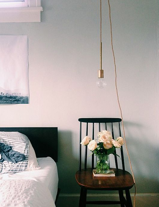 chair as bedside table, photography laure joliet.