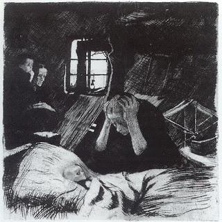 Kathe Kollwitz - Poverty (etching and drypoint) - 1893-94