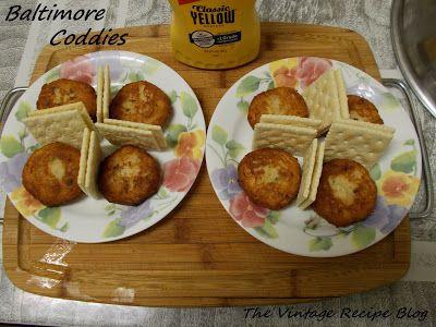Recipe for Baltimore Coddies or salt cod fish cakes