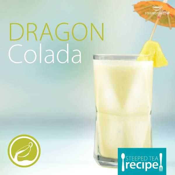 Thirsty Thursday: Did you see us on Dragons' Den? Try this Dragon inspired Pina Colada! Made with our Pink Dragon fruit tea.