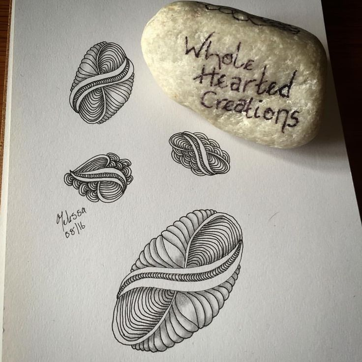 new zentangle pattern fingerbobs by wholeheartedcreations