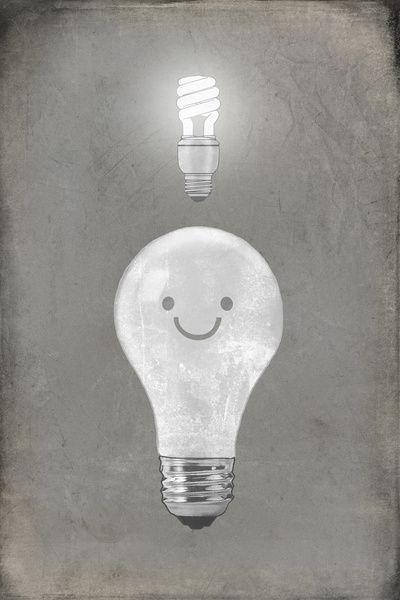 """Bright Idea by Terry Fan. Art Print / MINI (7"""" x 10"""") $18.00"""