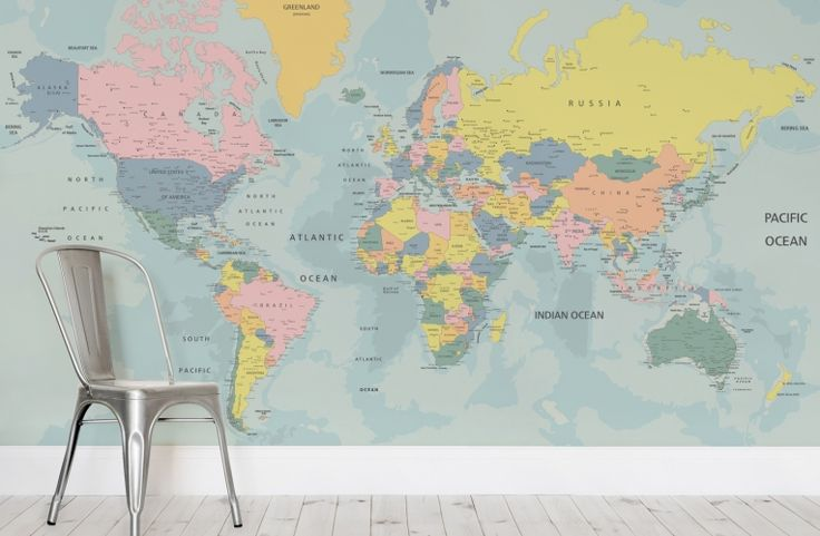 17 best images about carte du monde on pinterest wall for Classic world map wall mural