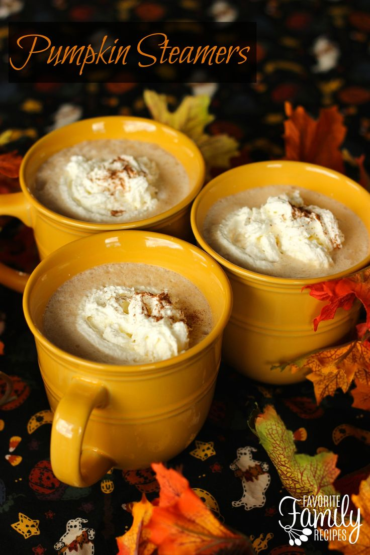 These Pumpkin Steamers have become a favorite around our house in the fall! This recipe uses real pumpkin - canned or you can puree your own. That may not sound too appetizing, but if you like pumpkin pie, you will LOVE this drink. It is so flavorful and comforting especially on a cold, autumn evening.