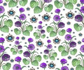 Seamless floral pattern beautiful vector material 04
