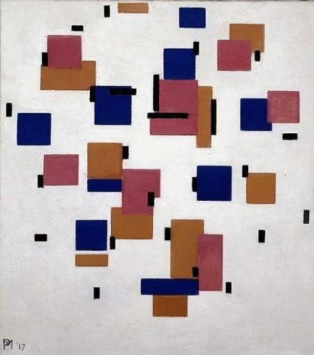 Composition in color B    1917    Piet Mondriaan (1872 - 1944)    oil on canvas