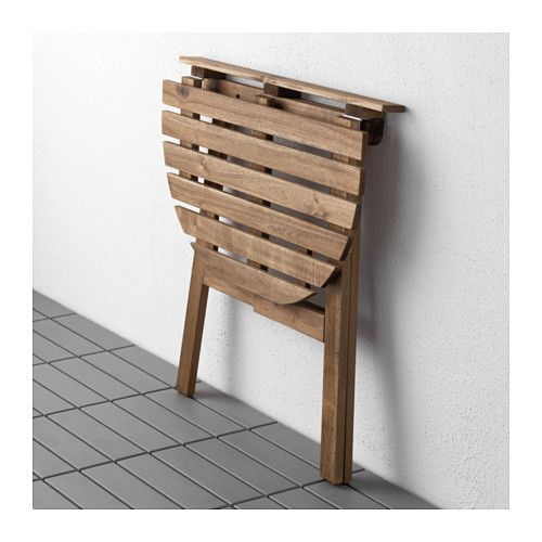 IKEA ASKHOLMEN table for wall, outdoor Space saving as the table can be folded down when not in use.