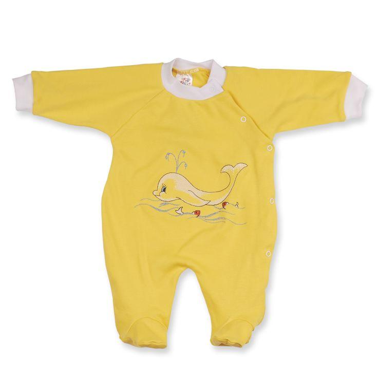Salopeta model 16 este perfectă pentru somn şi plimbări la sfarşitul verii. Bebe este îmbrăcat din cap până în picioare şi protejat oricât de mult s-ar mişca. Salopeta are capse, aşa că este uşor de îmbrăcat şi de schimbat.