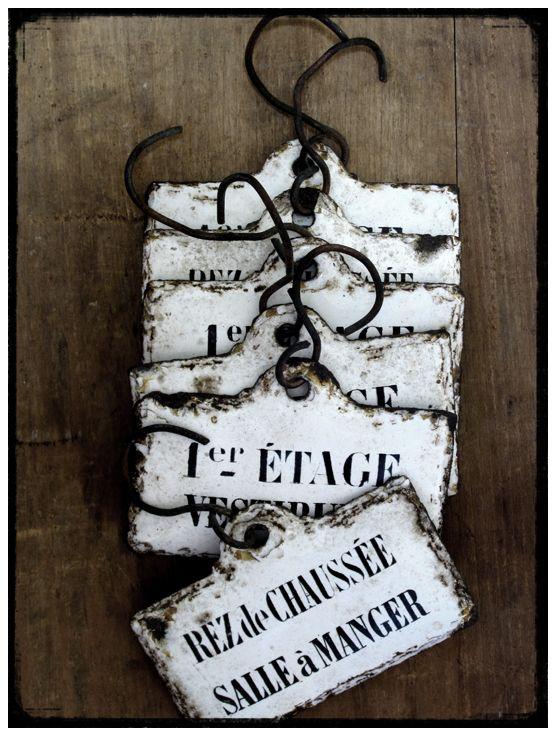 Antique Enamel, plaque émaillée, brocante