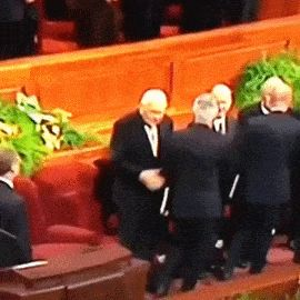 22 Animated GIFs That Prove Mormons Are Awesome | LDS GIFs | Mormon Humor | Elder Perry Fist bump