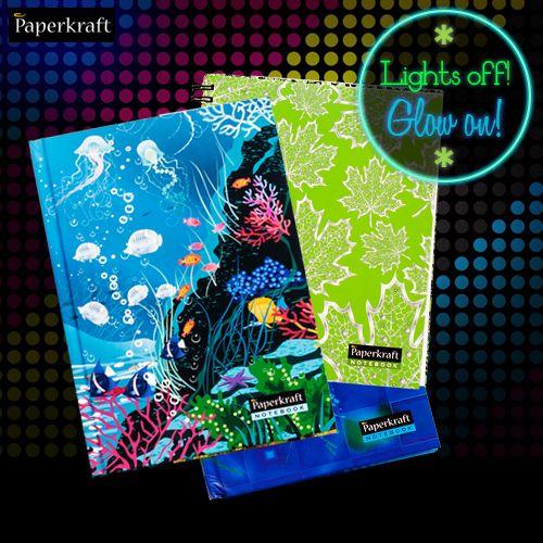 Glow-in-the-dark notebooks!