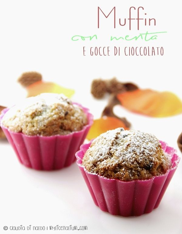Muffin con menta e gocce di cioccolato