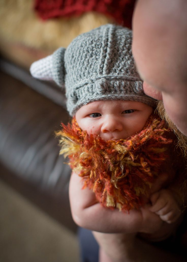 Bearded Baby Viking Set Everett Micheal Baby boy hats