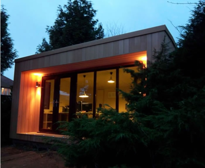 Cedar Clad Garden Office/Studio Awesome Ideas