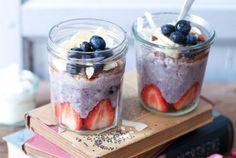 Wie macht man Porridge? Haferbrei Ideen und ein Rezept für Blaubeer Porridge mit Banane, Kokos, Mandeln und Honig