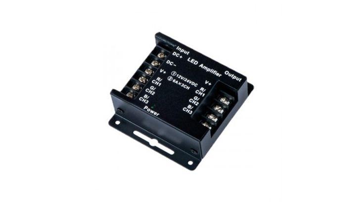 RGB led szalag jelerősítő 288W 12V/24V (OA),Led szalag vezérlők,3.490 Ft
