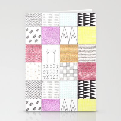 patchwork blanky Stationery Cards by Mirtle - $12.00