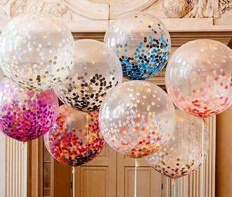 20pcs Brithday Party wedding decoration multicolor confetti balloon Helium Thickening Pear Latex Transparent Clear Balloon ** Want additional info? Click on the image.