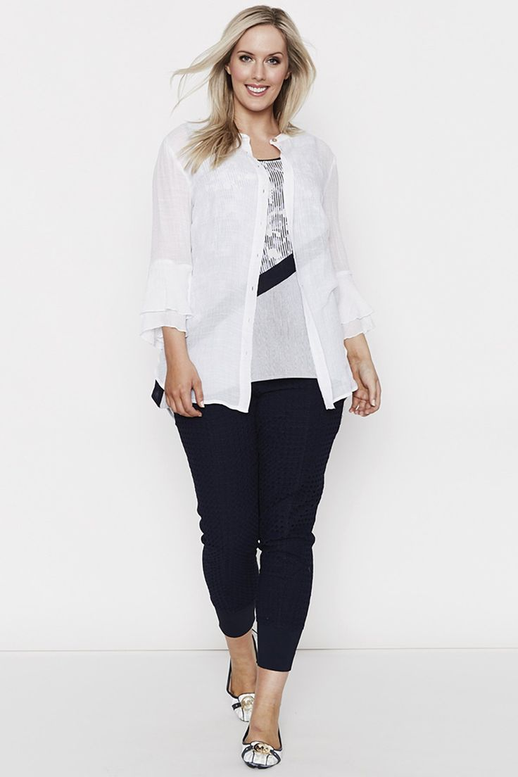 Threadz - Flute Sleeve Shirt - White 20250
