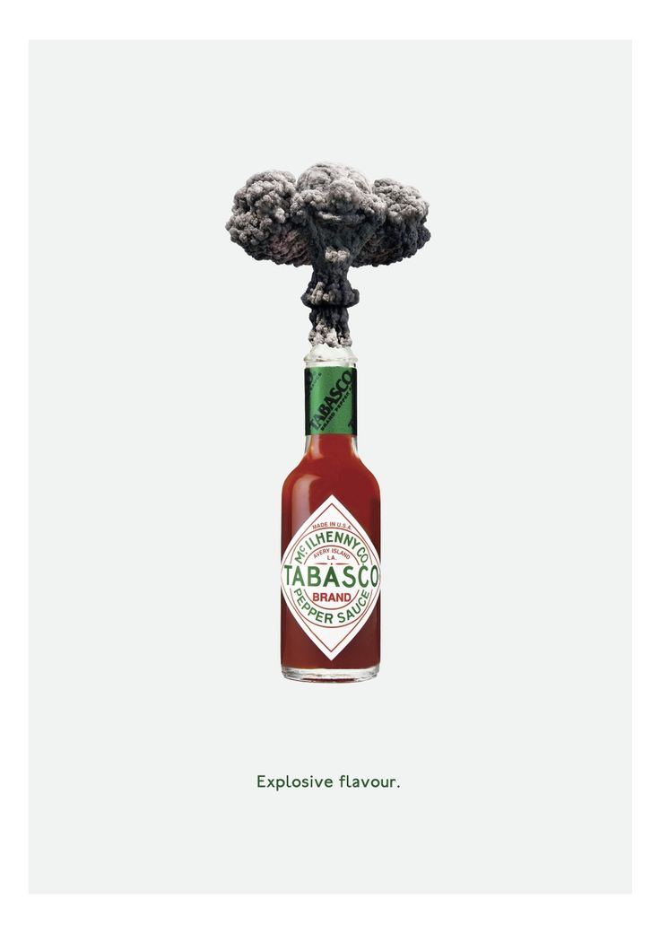 Explosive Flavour - Tabasco campaign by Kieran Child @ BA Creative Advertising, Falmouth University