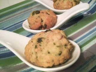 Encore des cookies salés: chèvre, thym et pistache!