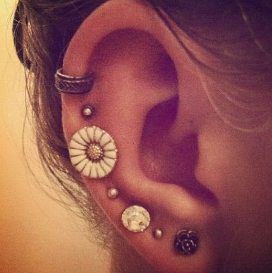Ear Piercings Cartilage Tumblr   Tattoos And Piercings ... Ear Piercing Tumblr