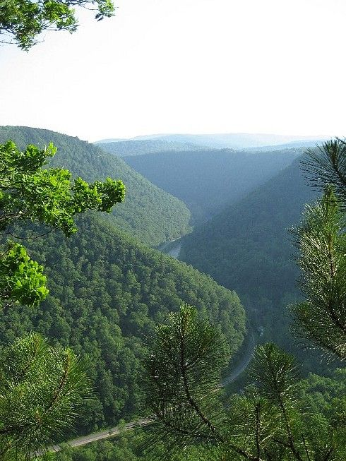 Pennsylvania Grand Canyon, Wellsboro, PA. Magnificent and nature at it finest.  First Pine Creek, then the railroad and now a bike trail there are great fun ways to enjoy the Grand Canyon.  From visitor centers on either side of the canyon there are waking trails to get you down to the Creek.  Take the time to enjoy this wonderful valley.