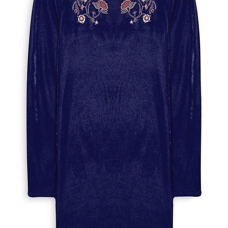 Vestido de Terciopelo con bordado  Categoría:#primark_mujer #ropa_de_mujer #vestidos en #PRIMARK #PRIMANIA #primarkespaña  Más detalles en: http://ift.tt/2BCDg4r
