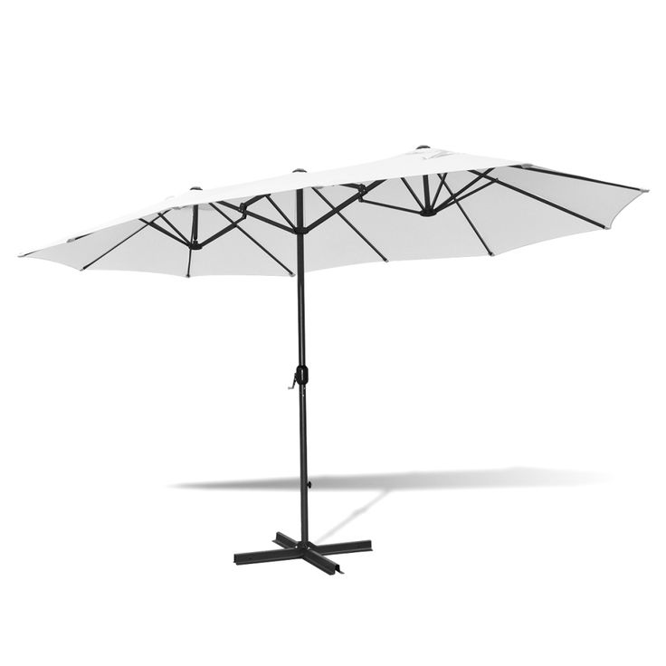 This practical and stylish umbrella will be a perfect choice to protect you from both UV rays and precipitation while reading books or drinking coffee with your family in your garden, or on your terrace or patio.Only US$162.06, 9' x 15' Aluminum Umbrella Sand White - LovDock.com
