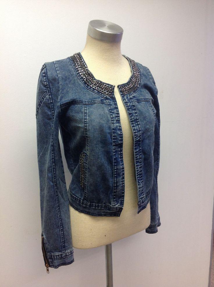 Chanel-style denim jacket at #NICCI