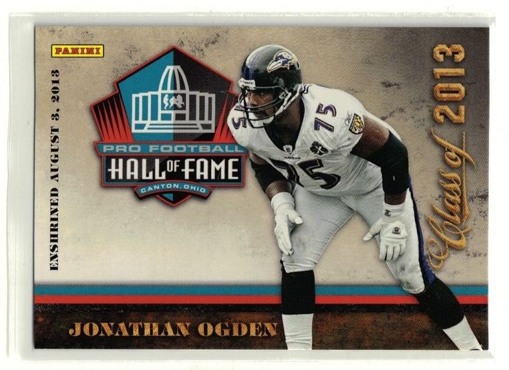 NFL Opening Day is coming soon!  2013 Panini Pro Football Hall of Fame Jonathan Ogden Class of 2013 Card Ravens #BaltimoreRavens