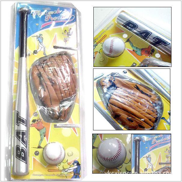 Montaje $ number Bola de béisbol, 1 Bat, 1 Guante 3in1 para niños entrenamiento de softbol béisbol niños de aluminio bate de béisbol el Espíritu de equipo de Entrenamiento