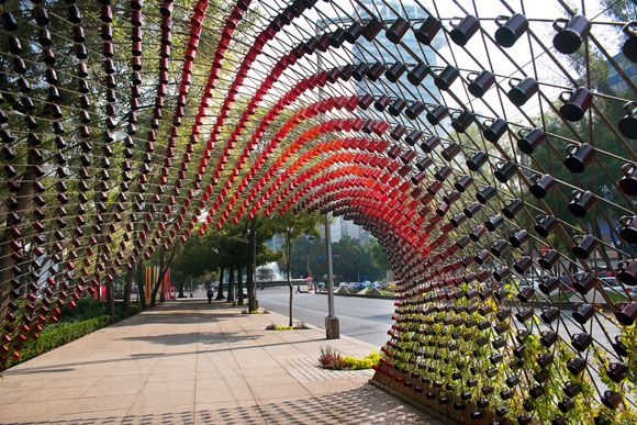 Mexico City's newest public art, Portal of Awareness, brings together spatial design with daily city interactions in the city's epicenter, avenue Paseo de la Reforma.