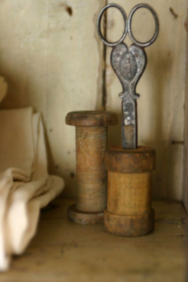 old spools & scissors