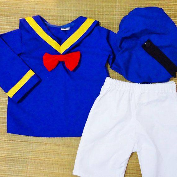 Donald Duck Set top & shorts Donald Duck Costume by LoopsyBaby